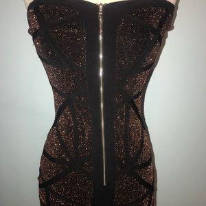 NikiBiki Bodycon zipper sexy fitted mini dress